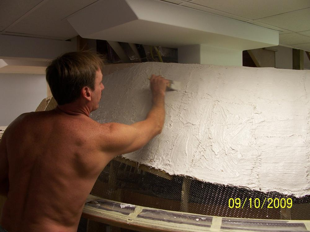 Building Mountains Using Wire Lathe And Drywall Compound