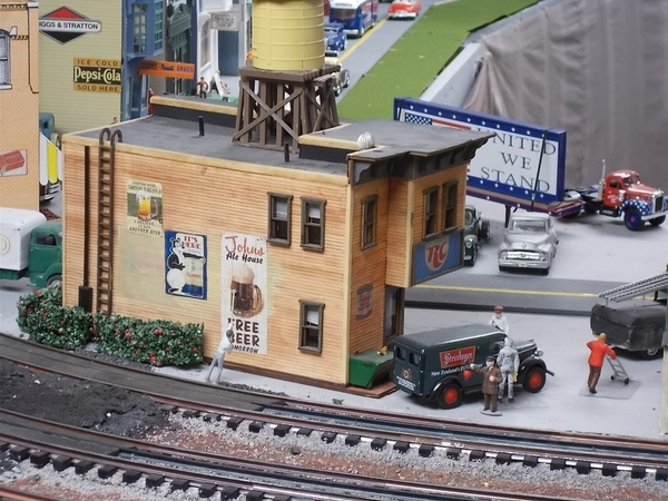 Menards Comaradera grill on our layout