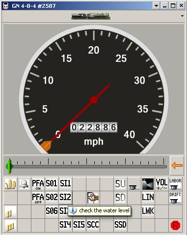 DCS engine window