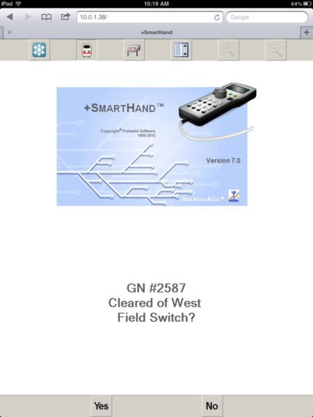 DCS smarthand message screenshot