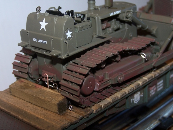 Oklahoma clay on Army Cat dozer