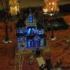 Lighted ghost house blue light