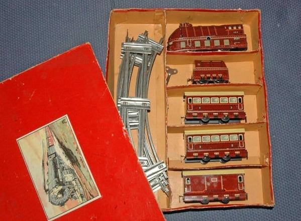 adolph schuhman 3-car streamliner set w box