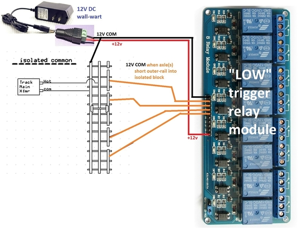 isolated rail 8 channel relay module LOW trigger