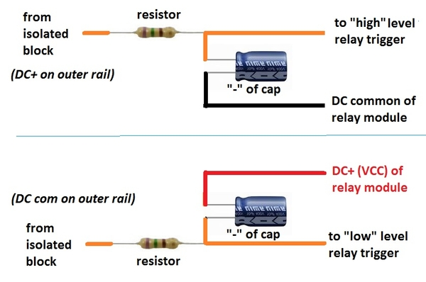 isolated rail rc filter