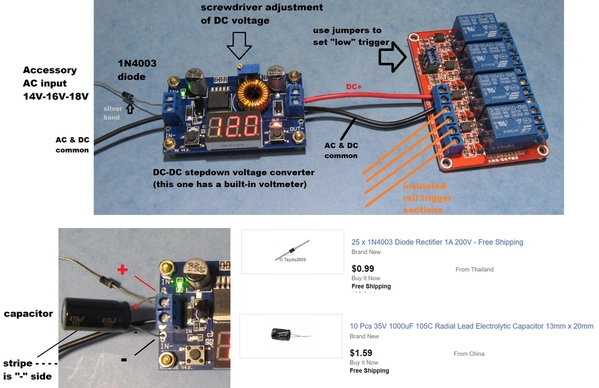 half wave common ground 12v supply for relays