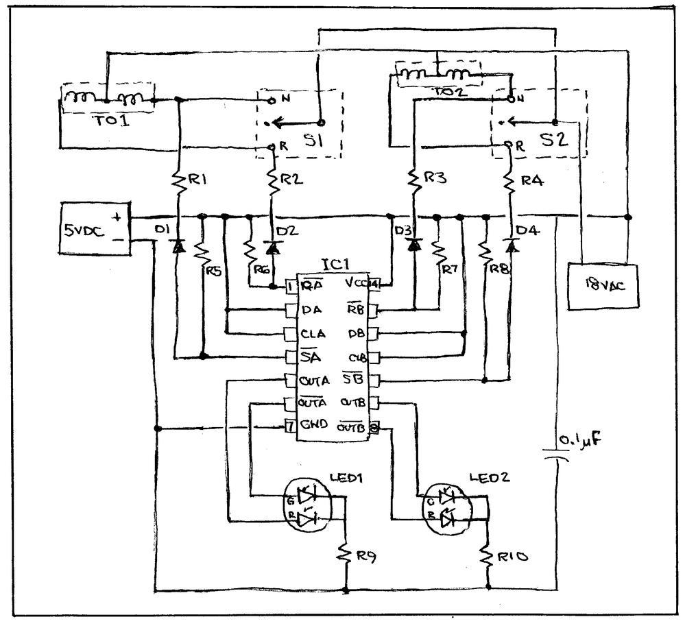 74hc74 Circuit Flip Flop Wiring Diagram And Ebooks D Logic Truth Table Latching Ff For Led Switch Track Indicators O Gauge Rh Ogrforum Ogaugerr Com Clip Art