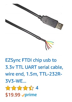 ftdi 3v usb rs232 cable