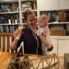 AES & EEK building bridge: daughter & granddaughter