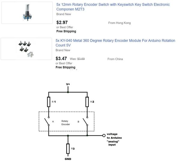 rotary encoder to arduino analog
