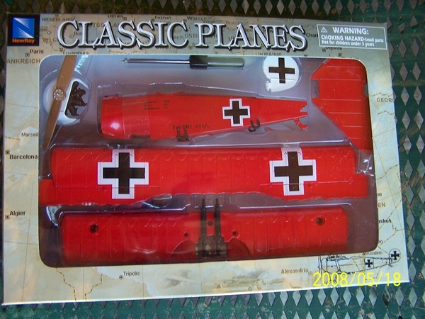New Ray Classic Planes Fokker DR.1, item #20227