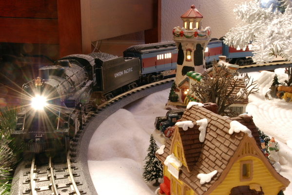 Nearing the Christmas Village Station
