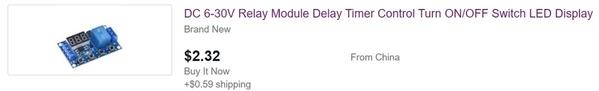 dc 6-30v relay timer