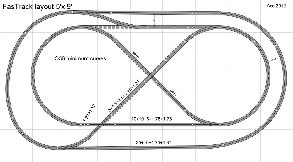 first stab at 5x9 fastrack layout