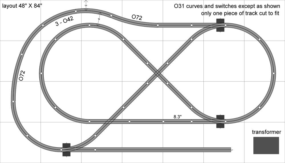 layout design for 4x8 o gauge railroading on line forum Plans for Train Track Wiring O Gauge Track Wiring
