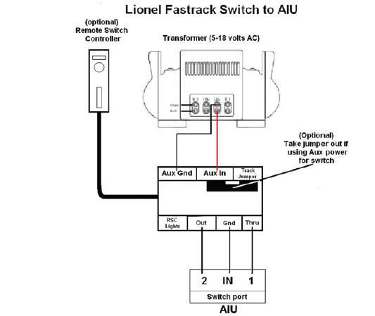 how to wire fastrack switches to mth aiu | o gauge ... tender 6466wx lionel train wiring diagram #6