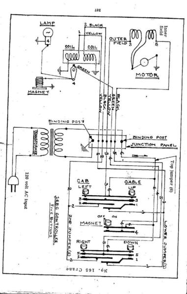 Wiring Digram For The 165 Lionel Crane