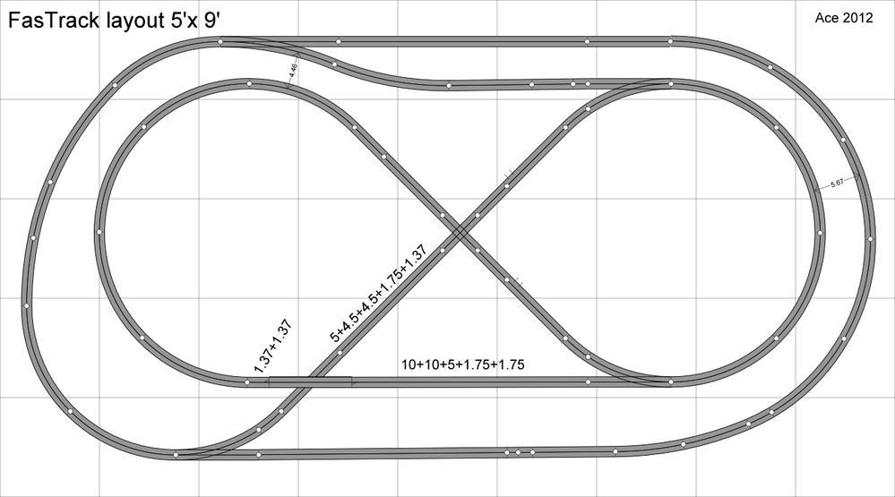 5 u0026 39 x10 u0026 39  fastrack layout complete  for now