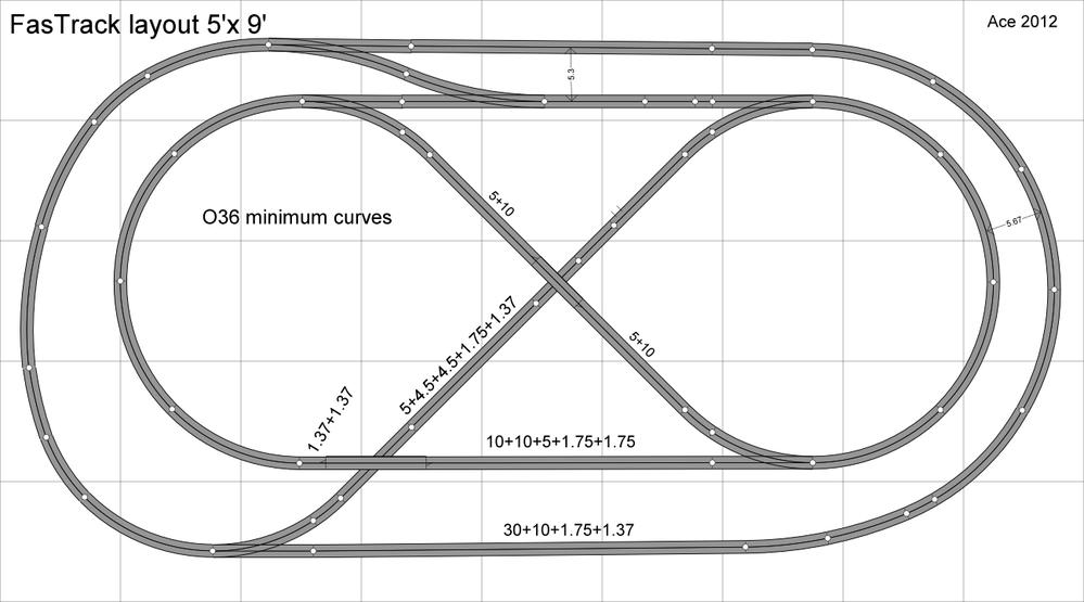 5x10 FasTrack layout complete for now – Lionel Fastrack Wiring Turn Out