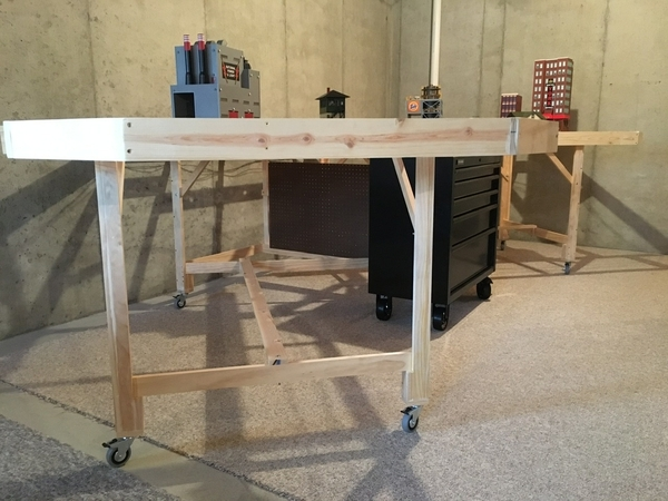 12x12 L - Pegboard power panel and wheeled control console