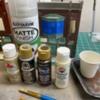 5B1F4F23-43B5-4BAE-A24F-6BAC7EFF2120: Acrylic brands, brush, Matt spray, pill cup