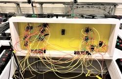 wiring progress below control panel