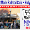What we did on the layout May 24 2016