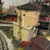 Climbing the water tank: At Butler Junction in Patsburg