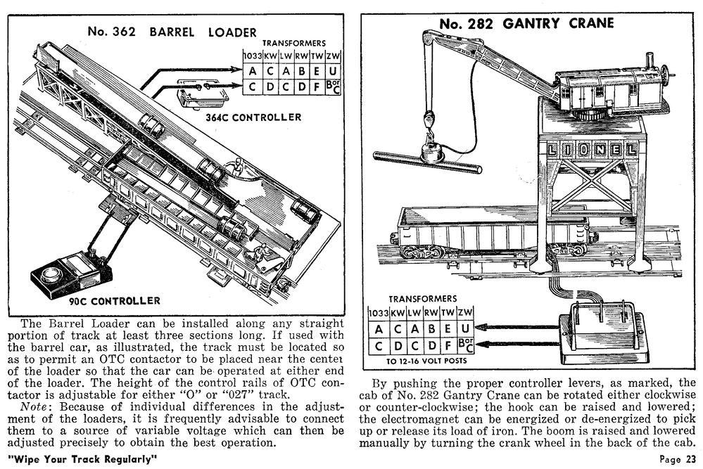362BarrelLoader.tif lionel barrel loader 362 track setup rse o gauge railroading on lionel ucs wiring diagram at crackthecode.co