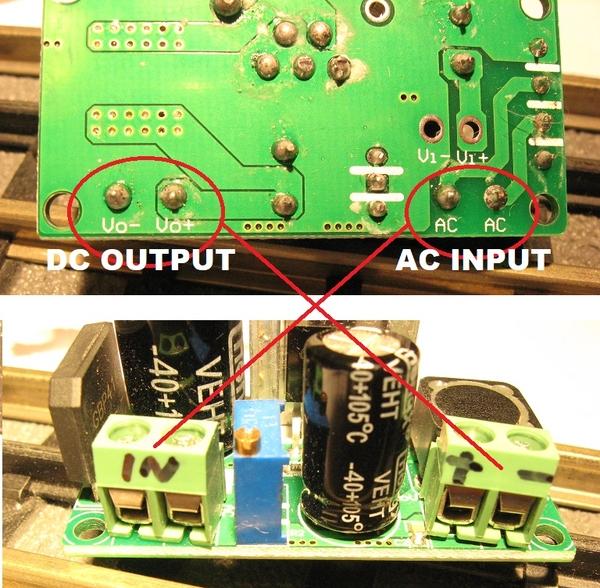AC to DC converter screw terminals