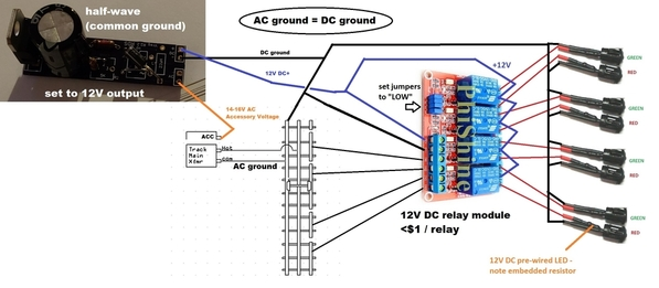 isolated rail 4 channel common AC DC ground