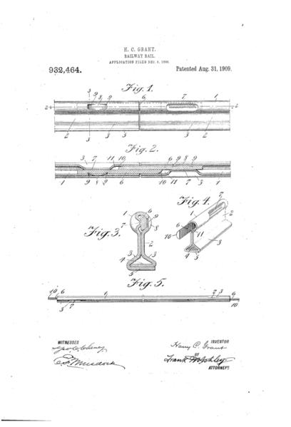 US932464-0 Grant split pin granted 1909