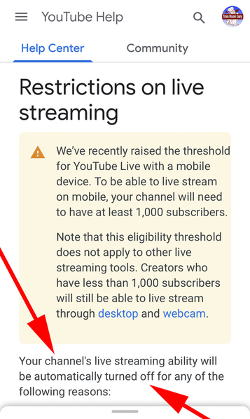 1 YT Streaming Rules