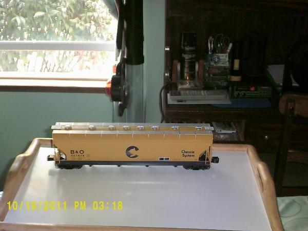 Lionel Chessie 4 bay ACF Hopper