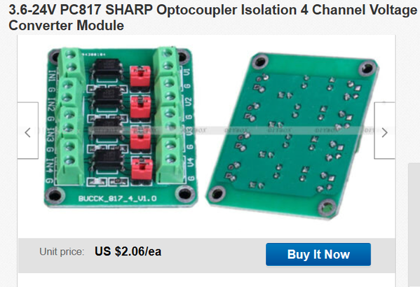 4 channel dc optocoupler