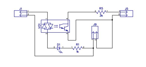 AC-DC 4 Opto-Iso PCB-1 SM