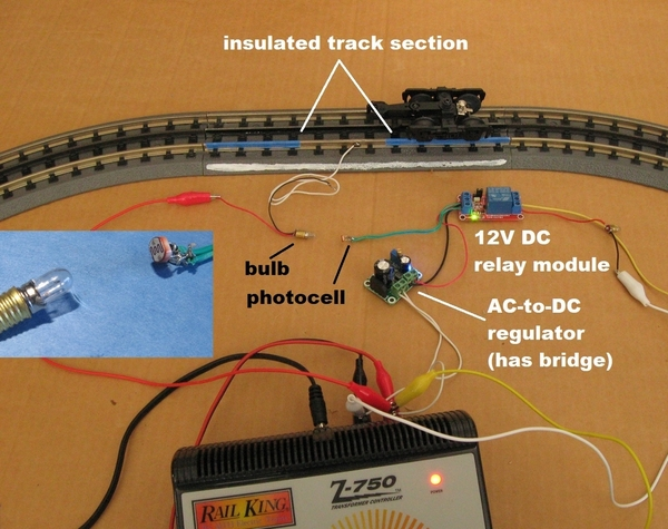 diy opto isolation using bulb and photocell