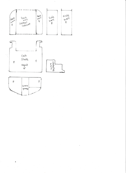 E-8 cab floor and walls drawing