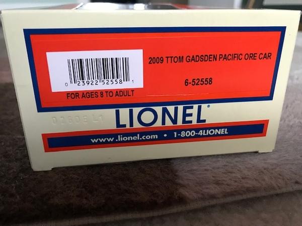 Lionel 6-52558 TTOM 2009 Gadsden Pacific Ore Car-1