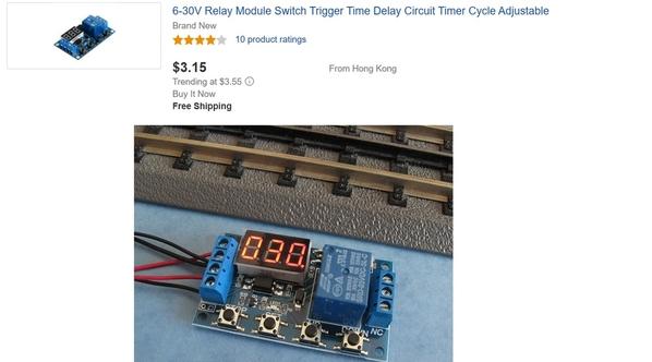 12v timer triggerable module