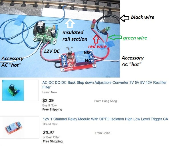 mth accessory wiring diagram to fastrack  o gauge