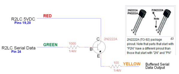 R2LC Serial Data Buffer Schematic
