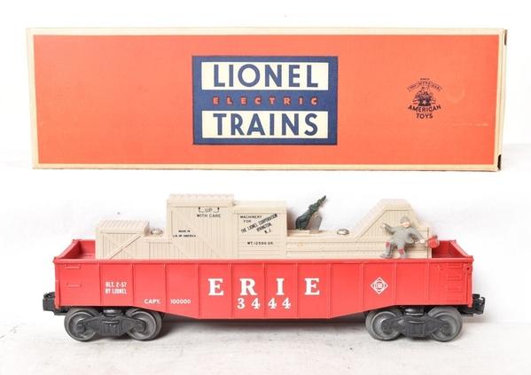 Lionel Postwar 3444 Erie Cop And Hobo Car [1)