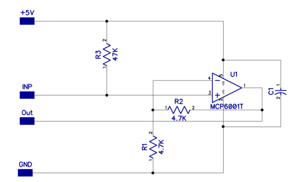 R2LC Buffer-Amp Schematic
