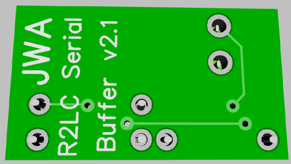 R2LC Buffer-Amp Thru-Hole 3D N2