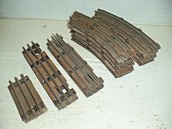 4-rail and 3-rail fiber board track 16 pieces