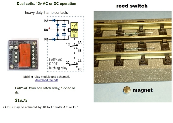latching relay magnet reed switch