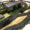 Custom S Scale Model Railroad - Gold Series American Eagle Railroad Group Inc,: Menards Locomotive Shed - S Scale Model Railroad
