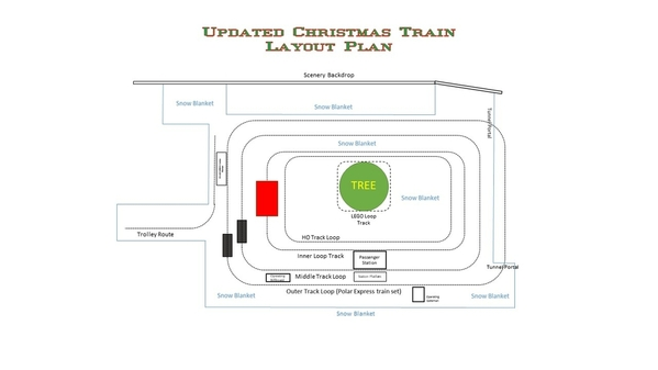 Updated Christmas Train Layout Plan