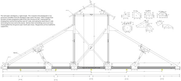 Open Hearth Structural Drawings v22-Truss